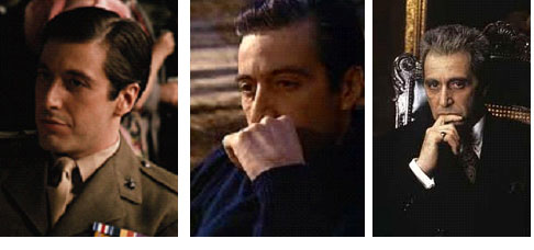 Al Pacino in the Godfather movies