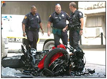 Ben Rothlisberger motorcycle after his accident