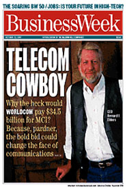 Bernard Ebbers on cover of Business Week Magazine