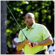 Charles Barkley playing golf