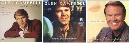 Glen Campbell album covers