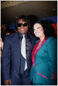 James Brown and Adrienne Rodriguez