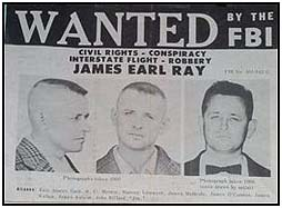 James Earl Ray wanted poster