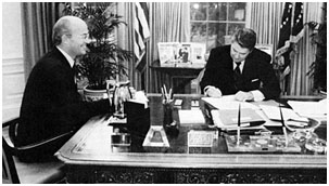 James Watt with Ronald Reagan