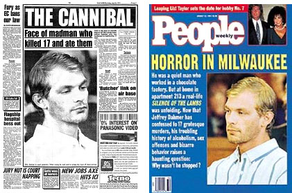 Dahmer on cover of newspapers and magazines