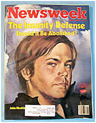 John Hinckley on the cover of Newsweek