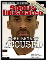 Kobe Bryant on cover of sports illutrated after he was acused of sexual assault
