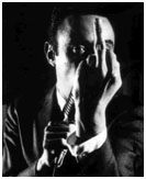 Lenny Bruce giving the middle finger