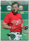 Lenny Dykstra in a Phillies uniform