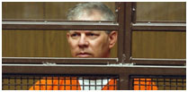 Lenny Dykstra in a prison jump suit