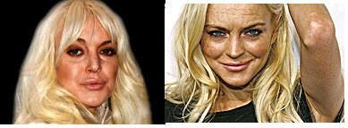 Lindsay Lohan with an older appearance