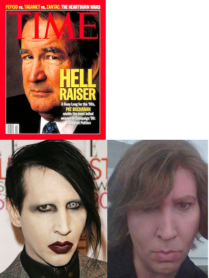 Marilyn Manson and Pat Buchanan