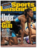 Marion Jones on cover of Sports Illustrated