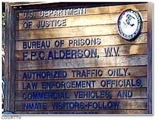 Federal Prison Camp in Alderson, West Virginia