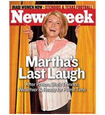 Martha Stewart on the cover of Newsweek