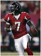 Michael Vick playing for the Falcons