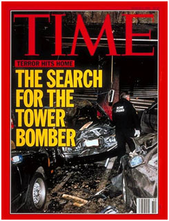 Time Magazine cover after World Trade Center bombing