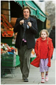 Paul McCartney with his daughter, Beatrice
