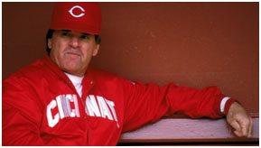 Pete Rose as manager of the Reds