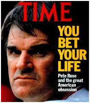Pete Rose on the cover of Time Magazine