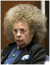 Phil Spector wearing a wig