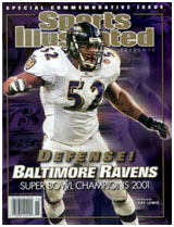 Ray Lewis on civer of sports illustrated