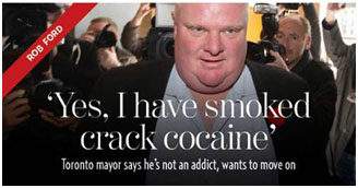 Rob Ford admitting drug use