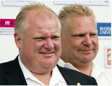 Rob Ford with his brother, Doug