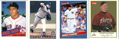 Roger Clemens in uniform for all 4 teams he played with