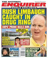 Rush Limbaugh on the cover of the Enquirer