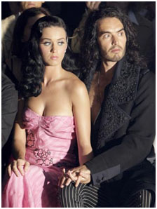 Russell Brand with Katy Perry