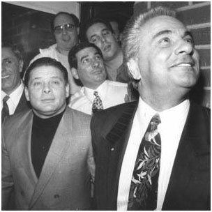 Sammy Gravano with John Gotti