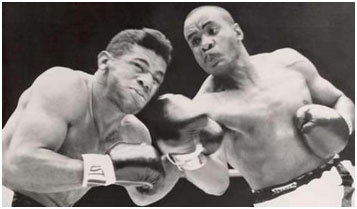 Sonny Liston fighting patterson
