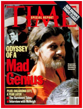 Unabomber on cover of Time Magazine