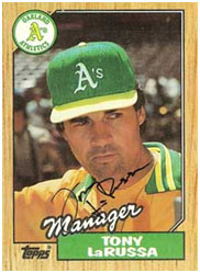 Tony LaRussa managing the A's