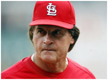 Tony LaRussa managing the Cardinals