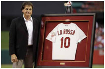 Tony LaRussa uniform retirede by the Cardinals