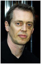 Steve Buscemi with stab wound near his eye