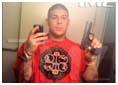 Aaron Hernandez selfie holding a gun